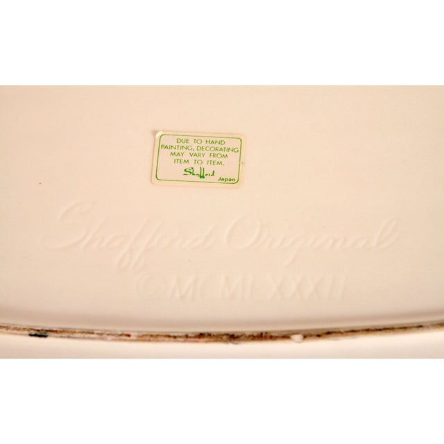 Ceramic Vintage Ceramic Hand Painted Watermelon Serving Platter For Sale - Image 7 of 8