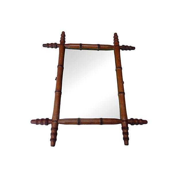 Antique French Bamboo Mirror - Image 4 of 4