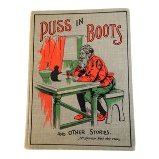 "1900 Antique ""Puss in Boots and Other Stories"" Children's Book"