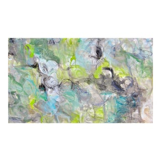 """""""Spring Waters"""" by Trixie Pitts Large Abstract Expressionist Painting For Sale"""