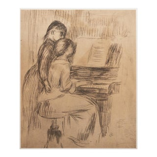 "1959 Large ""The Music Lesson"" by Renoir, Lithograph"