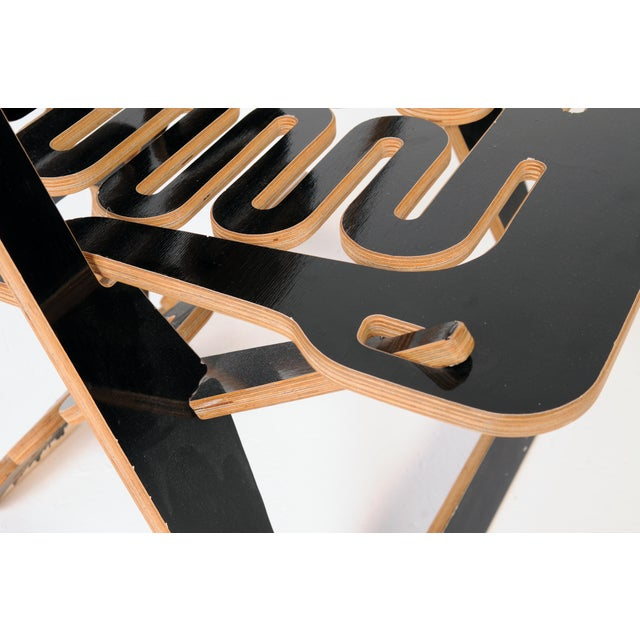 Black Lacquer Lumbarest Puzzle Chair by Gregg Fleischman For Sale - Image 4 of 9