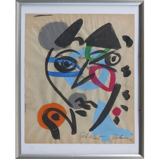 1960s Abstract Mixed Media Painting by Peter Robert Keil