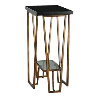 Black Granite Top Side Table