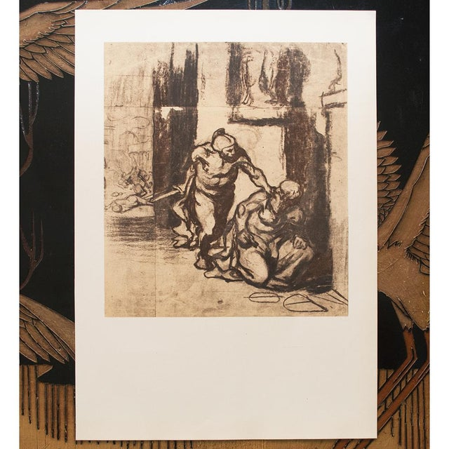 Brown 1959 Archimedes by Honoré Daumier, Vintage Hungarian Lithograph For Sale - Image 8 of 8