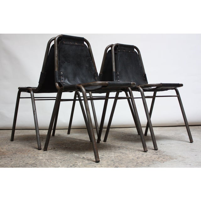 Early Set of Four 'Les Arcs' Chairs by Charlotte Perriand - Image 2 of 13