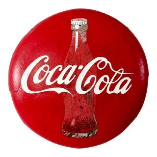 Vintage Coca-Cola Button Sign