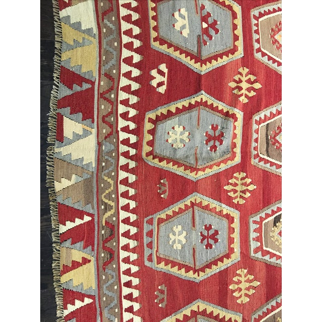 1920s Turkish Kilim - 8′1″ × 11′9″ - Image 5 of 8