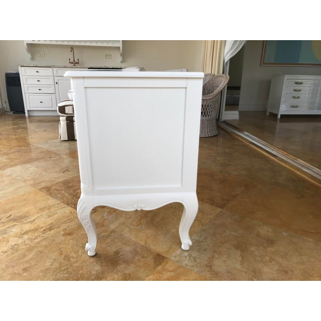 French Provincial Country French White Dresser For Sale - Image 3 of 8