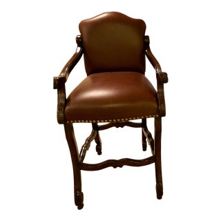 Leather Barstool Chair Bar Height For Sale