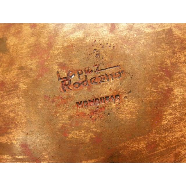 Mid-Century Modern Enamel & Copper Dish by Lopez Rodezno - Image 11 of 11
