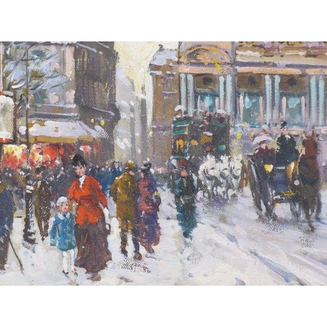 1950s 1950s Vintage Francois Gerome Parisian Scene Paintings - A Pair For Sale - Image 5 of 12
