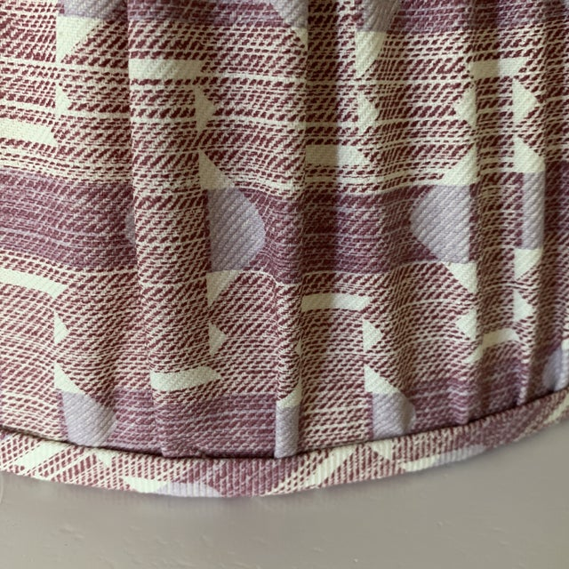 Plum Fermoie Pleated Lampshades- a Pair For Sale - Image 4 of 6