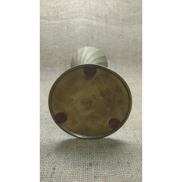 Vintage Brass Fluted Vase - Image 4 of 4