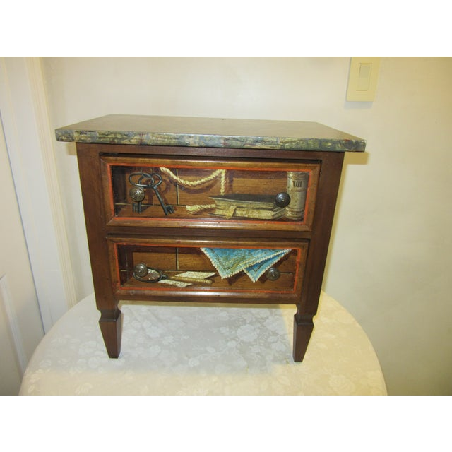 Trompe l'Oeil Mid Century 1970's Hickory Chair Collector's MIX Miniature Chest For Sale - Image 12 of 12