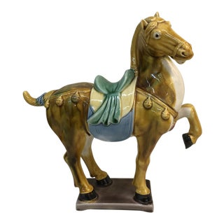 Tang Style Glazed Ceramic Horse For Sale