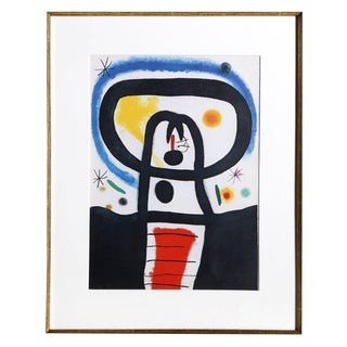"""Joan Miro """"Equinoxe From Indelible Miro"""" Offset Lithograph For Sale"""