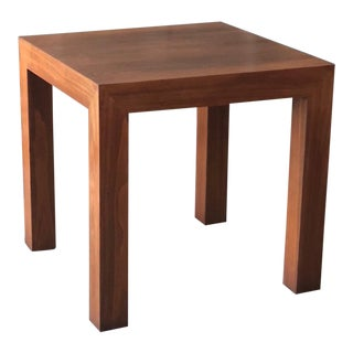 1970s Modern Vladimir Kagan Walnut Parsons Side Table For Sale