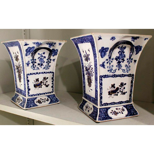 Late 18th Century Chinese Export Bough Pots - A Pair - Image 2 of 9