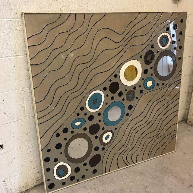Modern Geometric Art on Board For Sale - Image 4 of 10
