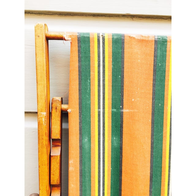 Antique Folding Beach Chair - Image 5 of 6