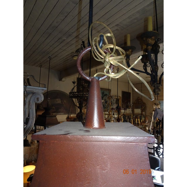 French Iron Lantern For Sale - Image 4 of 10