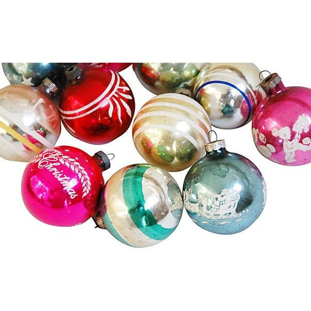 Mid-Century Fancy Holiday Ornaments - Set of 12 - Image 2 of 5