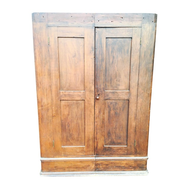Primitive Two Halves Farm Armoire - Image 1 of 9