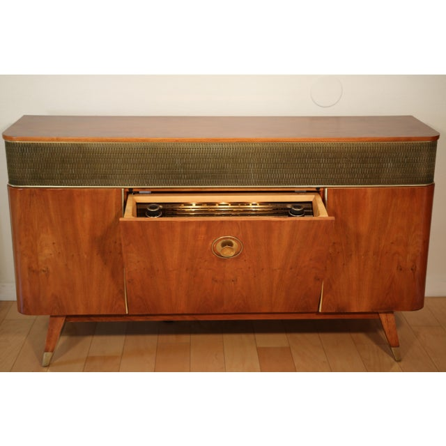 Camel 1956 Mid Century Grundig 9065 Stereo Console For Sale - Image 8 of 8