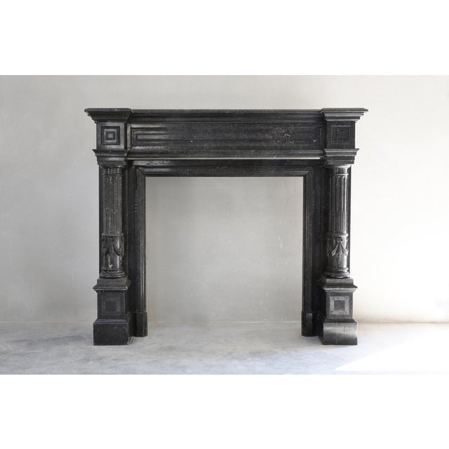 Early 19th Century Antique Fireplace - Belgian Bluestone - Neoclassical Style - 19th Century For Sale - Image 5 of 5
