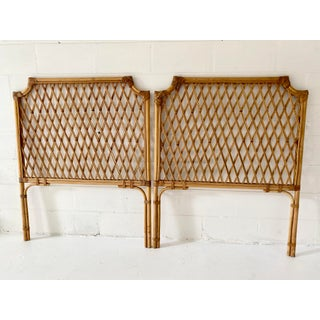 Vintage Rattan Headboards- a Pair Preview