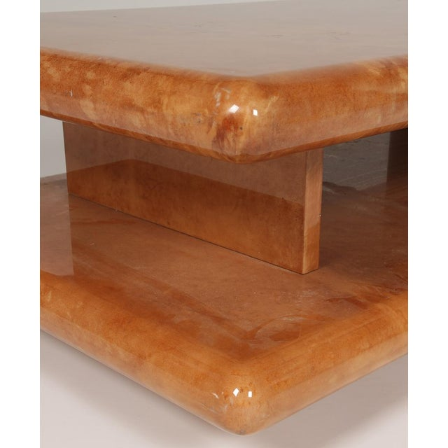 Italian Parchment Coffee Table by Aldo Tura For Sale - Image 3 of 5