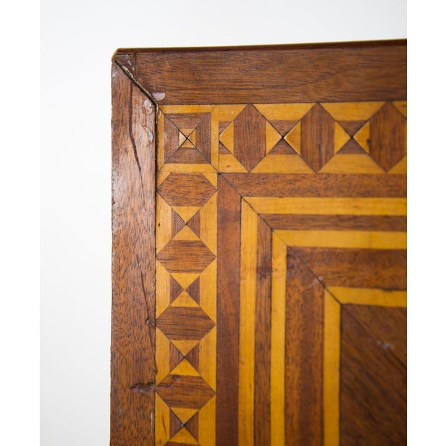 Mahogany 19th C. Victorian Tilt-Top Marquetry Occasional Table For Sale - Image 7 of 13