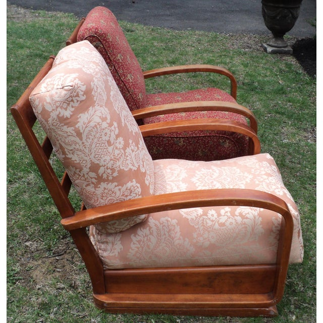 Mid-Century Club Chairs - A Pair - Image 4 of 11