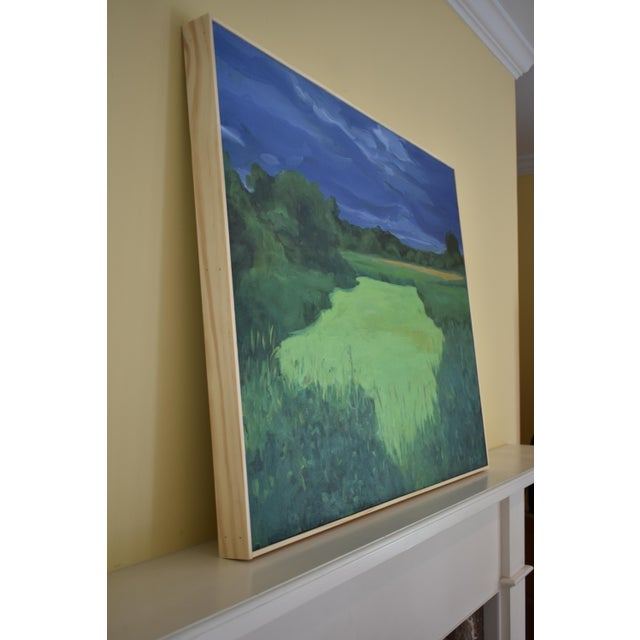 """""""Glowing Green ~ Algae Covered Pond"""" Painting For Sale - Image 10 of 13"""