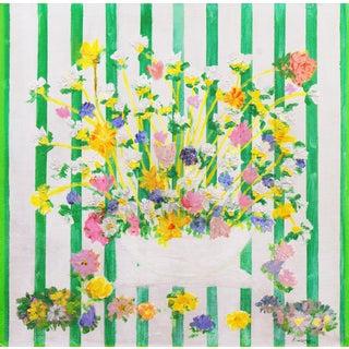 'Wildflowers Against a Georgian Stripe', Irish Post-Impressionist Oil by John Kirwan For Sale