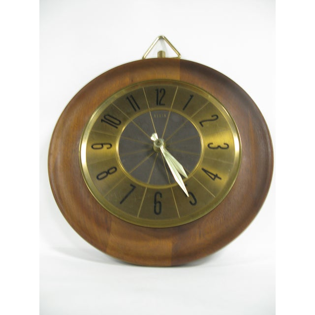Mid-Century Modern 1960s Mid Century Modern Elgin Wall Clock For Sale - Image 3 of 11