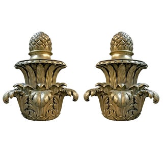 Pair of Early 20th Century American Bronze Finials For Sale