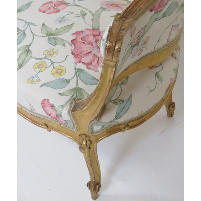 Antique French Gilt Carved Settee - Image 3 of 5