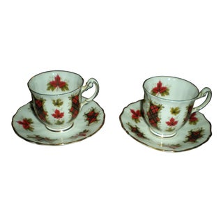 Royal Adderley Tea Cups & Saucers - Set of 4