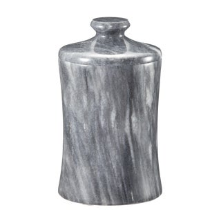Gray Marble Canister For Sale