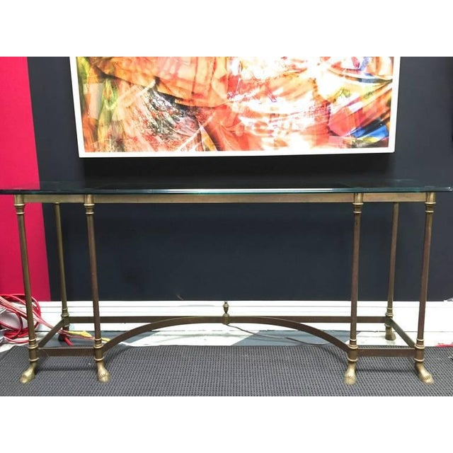 Glass Top & Brass Console - Image 2 of 5