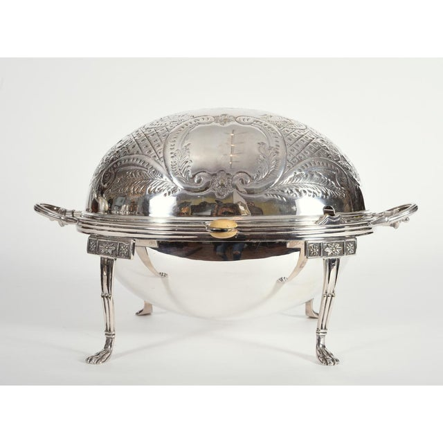 Vintage English Silver Plate Footed Tableware Server . For Sale - Image 9 of 9