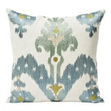 Image of Schumacher Double-Sided Raja Embroidery Silky Print Pillow