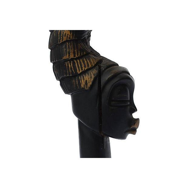 African Ebonized Carving - Image 3 of 3