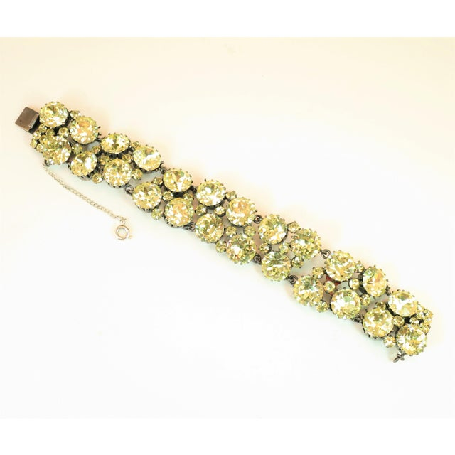 Austrian Hand-Made Canary Crystal Link Bracelet 1950s For Sale - Image 13 of 13