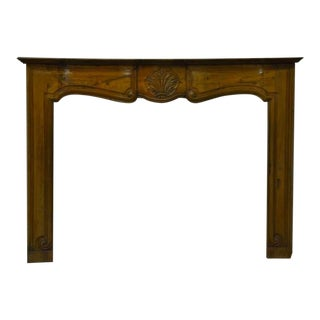 18th C. Louis XV Cherry Wood Antique French Fireplace For Sale