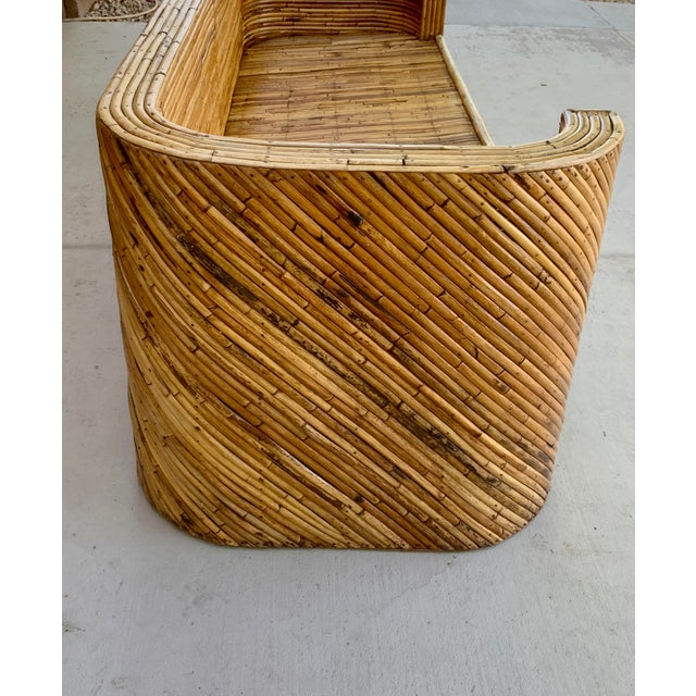 1960's Stacked Bamboo Sofa in the Manor of Gabriella Crespi For Sale In Phoenix - Image 6 of 13