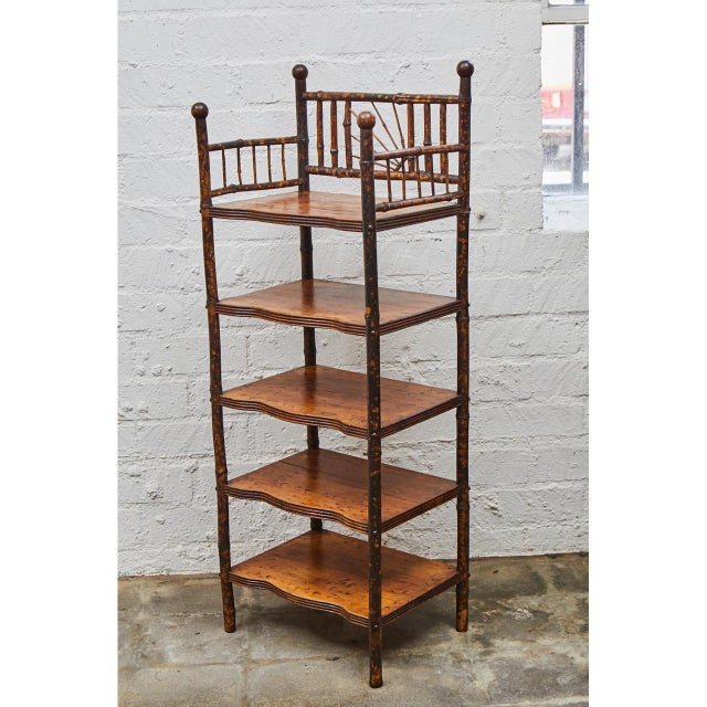 English Victorian Bamboo Shelves For Sale - Image 4 of 6