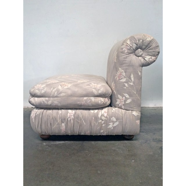 Slipper chair designed by Milo Baughman and manufactured by Thayer Coggin. This comfortable and stylish chair design dates...